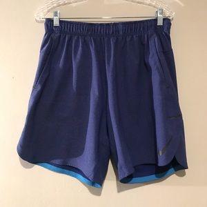 Men's Large Blue on Blue Nike Flex Shorts